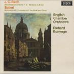 J.C.バッハ:協奏交響曲,交響曲,サリエリ/R.アドニー(fl)P.グレイム/J.ブラウン(ob)R.ボニング指揮イギリス室内o.他