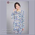 ショッピングシルク シルク100%パジャマ 婦人ニットシルク丸首パジャマ 限定商品 610
