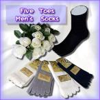 高袜 - 紳士 絹5本指くつ下 お試し5足組