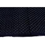 綿 正藍染め 紺系の地色に蚊絣(かがすり) 【シルク 和柄 和風 友禅 衣装 生地 着物 はぎれ】