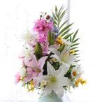 造花 仏花 胡蝶蘭やユリのパープル系の仏様の大きな花束 お仏壇 CT触媒