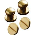 クラフト社 レザークラフト用金具 真鍮 ギボシ ネジ式 Φ10mm 2個入×10セット  1499(発送倉庫A・代金引換可)