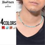 ショッピングネックレス ネックレス Brodiaea by gold blood(ブローディアバイゴールドブラッド)4ミリカラーストーン7クロスネックレス/全4色 メンズ(se) 服