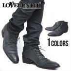 """""""LOVE HUNTER(ラブハンター)ショートレースアップブーツ/BLK(ブラック)"""" メンズ"""