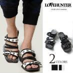 ショッピングスタッズ LOVE HUNTER(ラブハンター)スタッズベルトサンダル/全2色(ブラック/ブラック×ホワイト) メンズ 服