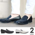 スリッポン メンズ 春 夏 レザー 革靴 短靴 オペラシューズ モノトーン 白黒 メンズシューズ 紳士靴