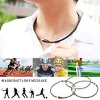 Yahoo!シルバーファクトリー磁気ネックレス スポーツネックレス メンズ おしゃれ 本革 編み込み レディース スポーツアクセサリー ゴルフ メール便