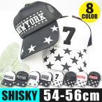 SHISKY シスキー モノトーン メッシュ キャップ 帽子 CAP 野球帽 白 黒 星 ロゴ プリント 刺繍 ワッペン アメカジ 男の子 女の子 子供 54 56 938-09 送料無料画像