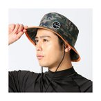 Yahoo!Simple Planビーチハット メンズ UPF50+ 男性用 全8色 頭周り59cm サーフハット サファリハット サーフィン プール ビーチ FELLOW KAHK