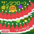 サンタクロース 帽子 大人用 20枚セット フリーサイズ コスプレ クリスマス ポイント消化
