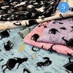 【メール便2mまで】アリスストーリー綿麻生地(1323)|アリス ウサギ シルエット 女の子 小物 ハンドメイド コットン 綿 リネン 麻 綿麻 布地 生地 メール便OK