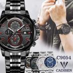 CADISEN メンズ腕時計 クロノグラフ ラグジュアリー スポーツ C9054 腕時計