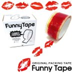 FUNNY TAPE ファニーテープ 血しぶき キスマーク 有刺鉄線 足跡 弾痕 蟻の行列 リアルプリント 梱包資材 クリアテープ 粘着テープ