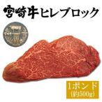 宮崎牛ヒレ(ヘレ・フィレ)ブロック1ポンド(約500g)