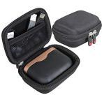 ソニー Sony WF-1000XM3ワイヤレスノイズキャンセリングイヤホン 専用保護旅行収納キャリングケース-Hermitshell (ブラック)