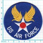 【送料62円】US AIR FORCEエンブレム/アイロンアップリケワッペン/刺繍/ミリタリー/飛行機/空軍