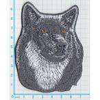 【送料62円】狼b/Lサイズ/アイロンアップリケワッペン/刺繍/動物/オオカミ/ハスキー犬
