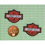 【送料62円】ハーレーエンブレムs2枚セット/アイロンアップリケワッペン/刺繍/バイク/乗り物/マーク
