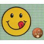 【送料62円】おいしんぼスマイル/アイロンアップリケワッペン/刺繍/ニコちゃんマーク/クッキング