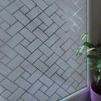 [のり不要]ws-2068 [レンガ格子]ステンドグラス風ガラスフィルム1メートル幅2種類/窓飾りシート/ウィンドウフィルムシール /シール 目隠し はがせる 壁シール 紫