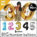選べる4色(数字 バルーンBIGサイズ) 約90CM アルミ 風船 メタリック ナンバー バルーン 誕生日 バースディ 記念日 お祝い 周年 ゴールド ピンク シルバー