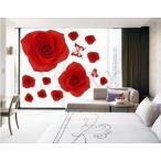 ウォールステッカー レッドローズ  部屋 花 木 バラシール 北欧 激安 はがせる 壁紙 壁シール ポスター