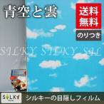 ws-2050[青空と雲][のりつき]1m×幅90cmステンドグラス風ガラスフィルム/窓飾りシート/ウィンドウフィルムシール /糊つき曇りガラスすりガラスOK シール 目隠し