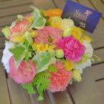 ショッピングフラワー 送料無料 アレンジ ギフト 母の日 結婚祝い 電報 祝電 誕生日 父の日 プレゼント 花 ラウンドアレンジメントSサイズ