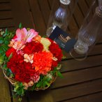 ショッピングバレンタイン 送料無料 アレンジ ギフト 結婚祝い 電報 祝電 誕生日 記念日 プレゼント 花  バレンタイン限定 ハート型フラワーアレンジメント