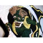 風神雷神ワッペンセット「金糸ver」アイロン接着和柄和風タトゥ刺繍