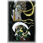 激安!!本格刺繍風神雷神Tシャツ*【和柄】【タトゥ】【刺青】【トライバル】【梵字】【龍虎】