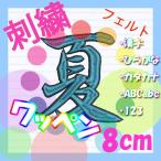 8cm 24色×24色  (フェルト)刺繍ワッペン