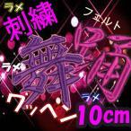 10cm 14色ラメ×39色 (フェルト)刺繍ワッペン
