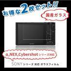 SONY カメラ用 液晶保護フィルム ガラスフィルム Sony α NEX Cyber-shot サイバーショット シリーズ など 各種 多機種 対応 (2枚セット)