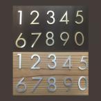 ショッピングステンレス H40mm 数字 フーツラ体 1文字 ステンレス 切り文字 表札 サイン 部屋番号 番地 住所 貼りつけるだけ