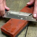 包丁研ぎのサポートホルダー 15度固定ガイドクリップ 初心者でも理想的な角度で砥石に刃が当てられる便利グッズ ステンレス製 刃付け簡単