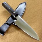 関の刃物 キャンピングナイフ 15cm (150mm) サバイバルナイフ ハンティングナイフ 魚釣り アウトドア包丁 右利き用 本革鞘付き 国産日本製