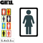 GIRL ガールスケートボード STICKER ステッカー BOX LOGO STICKER 5.4cm x 4.5cm NO86
