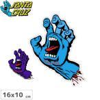 サンタクルーズ SANTACRUZ スケボー ステッカー SCREAMING HAND 2色 16cm x 10cm No21