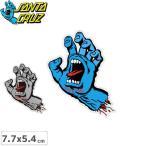 サンタクルーズ SANTACRUZ スケボー ステッカー SCREAMING HAND 2色 7.7cm x 5.4cm No24