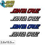 サンタクルーズ SANTACRUZ スケボー ステッカー STRIP 4色 2.6cm×13.5cm NO10