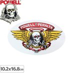 パウエル POWELL スケボー ステッカー Winged Ripper 10.2cm×16.8cm NO2