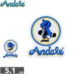 スケボー ANDALE アンデール ステッカー ANDAL STICKER 5.1m x 4.5cm 2タイプ NO2