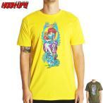 HOOK UPS フックアップ スケボー Tシャツ ALICE TEE イエロー アーミーグリーン NO17