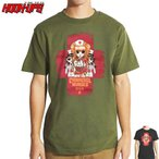 HOOK UPS フックアップ スケボー Tシャツ CANNIBAL NURSES TEE ブラック カーキ NO29