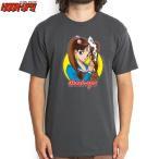 HOOK UPS フックアップ スケボー Tシャツ SCHOOL GIRL SAKURA TEE チャコール グレー NO35