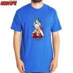 HOOK UPS フックアップ スケボー Tシャツ NAUGHTY THREE TEE ロイヤル ブルー NO40