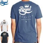 ロイアル ROYAL スケボー Tシャツ CROWN CREST TEE 3カラー NO35