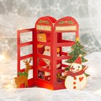 3D 立体 クリスマス  カード 【電話BOXで電話するサンタさん】 POP UP Xmas ギフト カード クリスマスグリーティングカード 封筒付き ポップアップ
