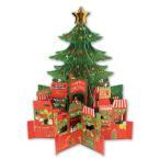 3D 立体 クリスマス  カード 【クリスマスツリー】 POP UP Xmas ギフト カード クリスマスグリーティングカード 封筒付き ポップアップ